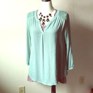 Mint green long top